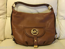 MICHAEL KORS FULTON LADIES BROWN LEATHER SHOULDER BAG BRAND NEW WITH TAGS *LOOK*