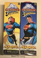 DC Heroclix Superman Booster Pack x 2 from Sealed Brick NEW Flashpoint