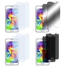 8 x Samsung Galaxy S5 Klar + Matt + Spiegel + Blickschutz Displayschutz Folie