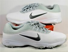 Nike Air Rival 4 White & Pure Platinum & Grey Golf Cleats Sz 10W NEW 818728 100