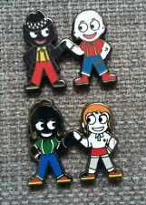 More details for skinhead / ska man & ska girl / skin byrd - two tone - reggae - friendship badge