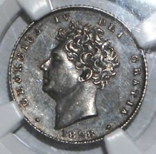 More details for 1828 sixpence 6 pence ngc au58 uk coin silver great britain