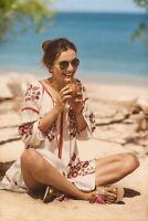Hadley Embroidered Tunic Dress By Ranna Gill Size S Boho Rare NWT Retail $188