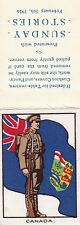 1916 THE KING & HIS SOLDIERS SUNDAY STORIES COMPLETE SILK - CANADA