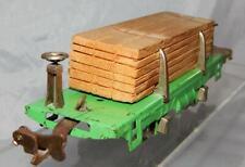 Clean Prewar Lionel 831 45N Green Lumber flat car w/lumber Dept Store uncatalogd