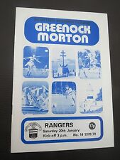 Greenock Morton V Rangers   1978/9  1