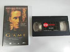 THE GAME VHS COLECCIONISTA EDICION ESPAÑOLA MICHAEL DOUGLAS SEAN PENN