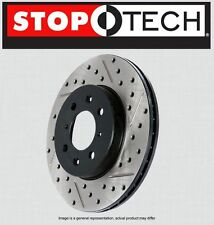 REAR [LEFT & RIGHT] Stoptech SportStop Drilled Slotted Brake Rotors STR44089