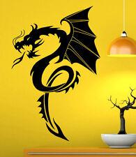 Gothic Dragon Wall Decal Vinyl Sticker Interior Housewares Art Decor (8dra6ws)