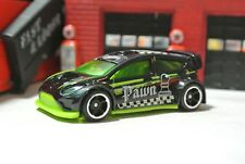 Hot Wheels '12 Ford Fiesta - Black & Green - Loose - 1:64 - Checkmate Pawn