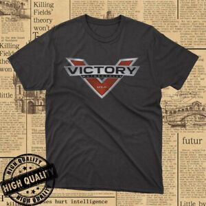 HOT !! New Victory American Motorcycle Logo Men's Cotton T-Shirt Size S-5XL