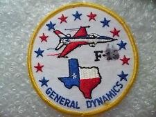 Patch- USAF F-16 General Dynamics Patch (New*apx. 10.5x10.5 cm)
