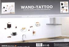 Premium Metallic Wandtattoo Deko Set L KAFFEETASSEN Aufkleber Sticker Tattoo NEU