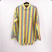 Ralph Lauren Mens Dress Shirt Size Large 16 1/2 Striped Classic Fit Colorful