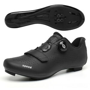 Professional Cycling Shoes Men's Bicycle Road Bike Sneakers Spin Cleats Peloton