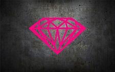 Diamond 5'' vinyl car sticker decal l buy 1 get 1 free jdm girly trend pink