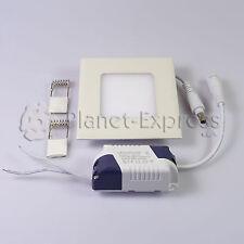 SPOT LED Carré 3W EXTRA PLAT HAUTE Intensité Blanc Froid Pilote 220V