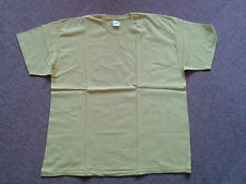 Fruit of the Loom einfaches, gelbes T-Shirt XXL