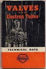 VALVES AND ELECTRON TUBES MULLARD TUBES 196X