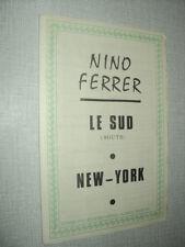 NINO FERRER PARTITION MUSICALE FRANCE AFRIQUE BELGIQUE LE SUD NEW-YORK
