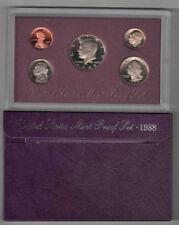 1988 US Mint Clad Proof Set Gem Coins w/ Box