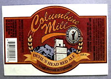 Columbine Mill Brewery DEVIL'S HEAD RED ALE beer label CO 12 oz STICKER