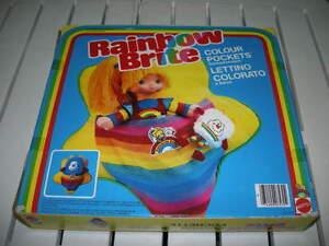 IRIDELLA RAINBOW BRITE LETTINO COLORATO color pocket MATTEL