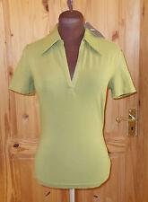MEXX CREW pea green stretch short sleeve polo golf shirt t-shirt top BNWT S 8-10