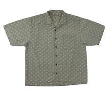 Tommy Bahama Silk Button Down Shirt Men's XL Short Sleeve Green Yellow Orange