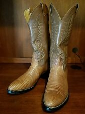 Men Nocona Lizard Skin Cowboy Boots Size 8 D Style 3117C