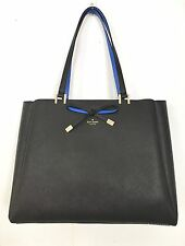 Kate Spade New York Cherrywood Street Nell Tote Bag in Black and Adventure Blue