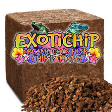New listing Coconut Husk Chip Bedding - Exotichip Reptile Bedding - Large 5 kg Block Shipped