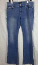 White House Black Market Womens Skinny Flare Blue Jeans Flap Pockets 12R