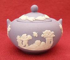Wedgwood blue jasper ware miniature sugar bowl