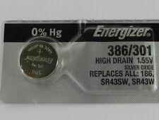 Energizer  386  SR43SW, SR43W  Button Cell  Watch Battery, 1Pc