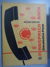 Fernsprechbuch Bezirk Erfurt 1988 Sömmerda Schlotheim Gotha Zück Arnstadt Apold