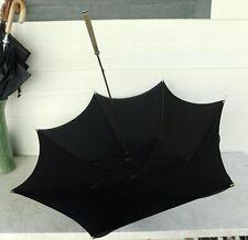 1930s Parasol Umbrella Gothic Black Bone Tips