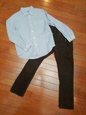 Boys 6 7 Outfit Gap Kids ELAND 2 Piece Set Long Sleeve Button Up Shirt Brown