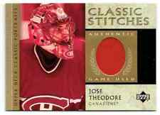 2002-03 UD CLASSIC PORTRAITS STITCHES JOSE THEODORE JERSEY 1 COLOR MONTREAL