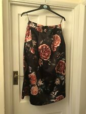 New M&S Collection Silky Floral Vintage Look Midi Skirt,12