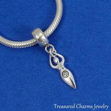 925 Sterling Silver Fertility Goddess Dangle Bead Charm fits European Bracelet