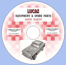 Aston MARTIN DB4, DB4GT, DB6, Lagonda Rapide,'60 -'66 LUCAS attrezzature elenchi delle parti
