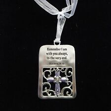"""NEW """"With You Always"""" Keepsake Pewter Ornament with Color Detail"""