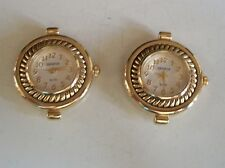 WOMEN'S SET OF 2 GOLD FINISH  WATCH FACES FOR BEADING,RIBBON OR OTHER USE