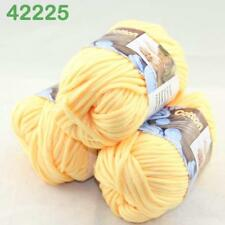 Sale Lot of 3 Balls Soft Worsted Cotton Chunky Bulky Hand Knitting Quick Yarn 25
