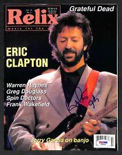 Eric Clapton 1993 Signed Autographed Auto Relix Magazine Psa/Dna #C20002