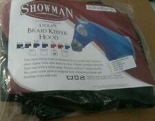 Showman Size Large Black Braid Keeper Form Fitting Horse Hood 3/4 zipper
