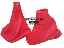 For Alfa Romeo 156 1998-2002 Gear & Handbrake Gaiter Red Leather