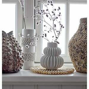 Bloomingville Aarhus White Stoneware Danish Vase