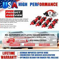 8X D585 Ignition Coils Round +Spark Plug Wires For GMC Chevy Silverado 5.3L 6.0L